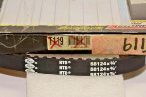 """T119  TIMING BELT (GATES)  58124X3/4"""" RENAUlt, VOLVO-see listings below"""