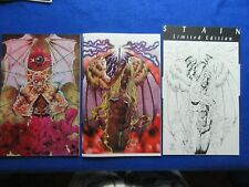 STAIN #1 & 2 SIGNED SET WITH LIMITED EDITION PRINT