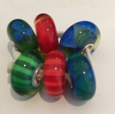 Authentic Trollbeads Northern Forest Kit.  63052- 6 Glass Beads, Retail $204