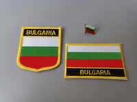 Set of  Embroidery Flag Patch and Badge shield Patch and Lapel pin CUBA