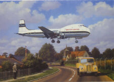 British United ATL-98 Carvair Southend Airport Airliner Blank Birthday Card