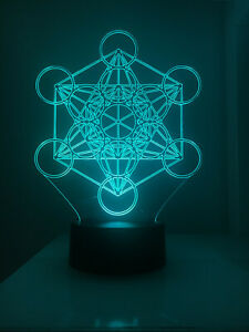 3D Led lamp - Metatron Cube - Yoga & Meditation Sacred Geometry