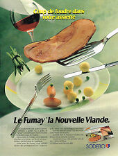PUBLICITE ADVERTISING 025  1990  SODEBO   jambon LE FUMAY
