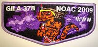 GILA OA LODGE 378 YUCCA COUNCIL TEXAS SCOUT PATCH 78 66 NOAC 2009 FLAP KICHKINET