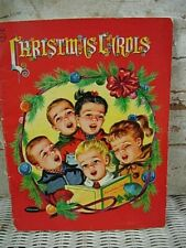 Vintage 1952 Whitman Christmas Carols Music Song Book Karl Schulte Illustrated