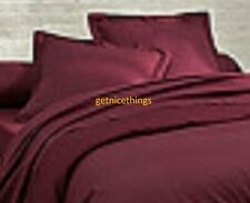 Yves Delorme Triomphe Rubino Red Wine Solid EURO Shams Pillowcases Pair NEW