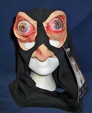HACKER EXECUTIONER HUGE BUG EYES & NOSE LATEX MASK HOOD COSTUME 9008BS