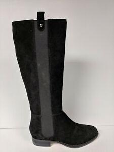 Corso Como Randa Fashion Boot, Black Split Suede, Womens 5.5