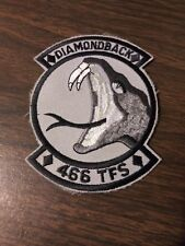 "US Air Force 466th Tactical Fighter Squadron ""Diamondback""  3"" x 3.5"" Patch"