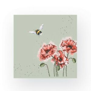 Wrendale Bee Cocktail Napkins - 20 Flight of the Bumblebee Illustrated Napkins