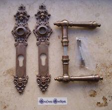 Geschenknet Antik Messing Tür Griffe Türgriffe Langschild PZ 72 Jugendstil S6-4P