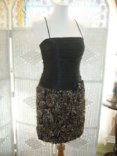 A150 LM COLLECTION HY0290 BLACK $310 PROM SZ 8 COCKTAIL  HOMECOMING GOWN DRES