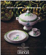 PUBLICITE ADVERTISING 054 1978 JAMMET SEIGNOLLES porcelaine de Limoges