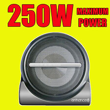 "Enhance Compact 250W Active Car Amplified Powered 8"" Subwoofer Sub Bass Box+wire"