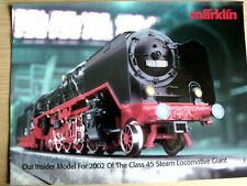 Catalogo MARKLIN Novità 2002 Class 45 Steam Locomotive-  ENG -  [TR.27]