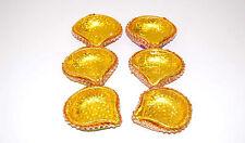 decorated diya for wedding & Diwali (Pack of 6)