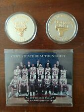 Highland Mint 1996 Chicago Bulls .999 Silver Coins W/ 24k Gold Overlay 1158/1500