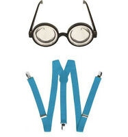 Occhiali Rotondi & Blu Bretelle Minions Accessorio Vestito Set Taglia Unica