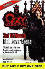 OZZY OSBOURNE 2008 Laminated Australian Tour Poster