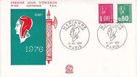 Enveloppe 1er jour FDC n°978 - 1976 : Marianne Bequet Nouveaux tarifs