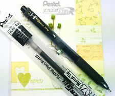 3 pens 5 refills Pentel Ener Gel BL-107 roller ball pen & LR7 refill BLACK ink