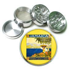 "Vintage Poster D163 Aluminum Herb Grinder 2.5"" 63mm 4 Piece Jamaica Gem Tropics"