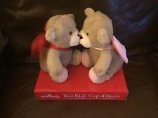 Hallmark Valentine Plush Magnetic Cupid Bears Kissing Sounds