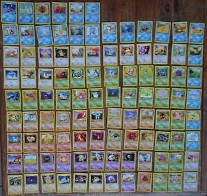 122 x Lot Base Set Jungle Fossil Incl Rare WOTC Bulk Pokemon Cards (1999-2001)