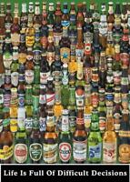 Difficult Decisions : Beer Bottles - Maxi Poster 61cm x 91.5cm new and sealed