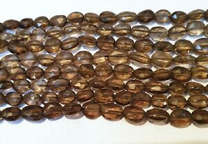 Full Strand Natural Smoky Quartz Oval Faceted 4x6 -5x6.5mm Gemstone Beads