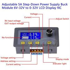 Adjustable 5A Step-Down Power Supply Buck Module 6V-32V to 0-32V LCD Display im