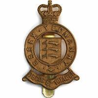 Queens Crown The Essex Yeomanry Regiment Cap Badge - GE71