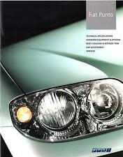 Fiat Punto 2003-2004 UK Market Specification Brochure HGT Sporting Eleganza