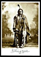 ⫸ 954 Postcard Sitting Bull Sioux Native American Little Big Horn Photo 1884 New