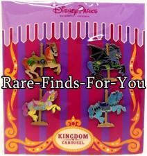 "Disney Theme Parks ""Kingdom Carousel"" Horses 4-Pin Booster Pack Set (NEW/SEALED)"