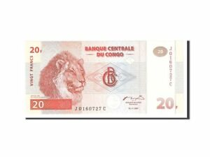 [#113628] Congo Democratic Republic, 20 Francs, 1997, KM:88a, 1997-11-01