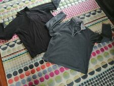two Men's fleece tops. black and grey . size XL, Craghoppers and Peter Storm