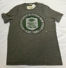 New Abercrombie & Fitch Muscle Fit Men's Vintage FB T-Shirt, Gray, Size Large