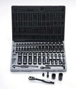 "Dual Action 3/8"" Dr 59 Piece Thin Wall Impact Socket Set 10145901"