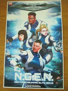 N.G.E.N. NGEN Marvel Avengers cancelled recalled Poster Northrop Grumman NYCC