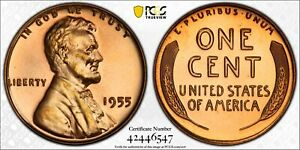 1955 Proof 1 Cent PCGS PR67RD