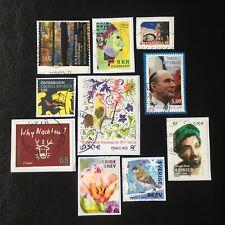 Lot de 10 timbres - Pays divers et années diverses - encore sur frag - F19