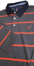 Gant Rugger Polo pesado Barstripe, Gris/Rojo