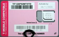 Tracfone T-Mobile GSM 4G LTE Tri Cut SIM Card Samsung iPhone TF128PSIMT5TD