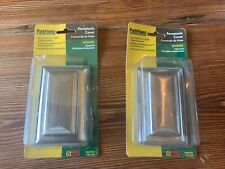 2 Marinco RV camper, trailer stainless weatherproof receptacle covers-7879CRV