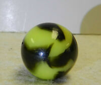 #13076m Beautiful Vintage Peltier Glass Bumblebee Marble Loaded With Aventurine
