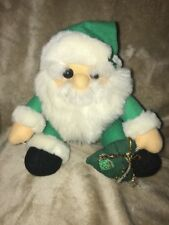 "Play by Play CHRISTMAS Santa Clause Plush Stuffed Green  HAT Gift Bag 8"" #9"