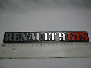 FR118 MONOGRAMME SIGLE INSIGNE LOGO RENAULT 9 GTS