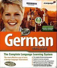 Learn to Speak GERMAN Deluxe - 5 Cd Rom -NIB...