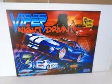 New ListingSega Viper Night Drivin Pinball Translite New Old Stock